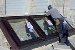 התקנת חלונות גג חצר אנגלית